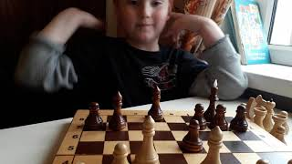 Обучение шахматам ребёнка(Дима 6 лет)