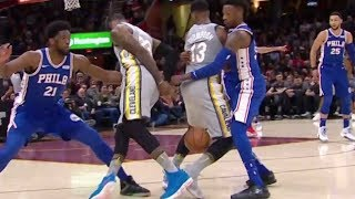 LeBron James Pulls a SWEET Behind-the-Back Move Between Tristan Thompson