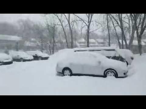 Minneapolis MN, USA Snow Storm Feb 2019