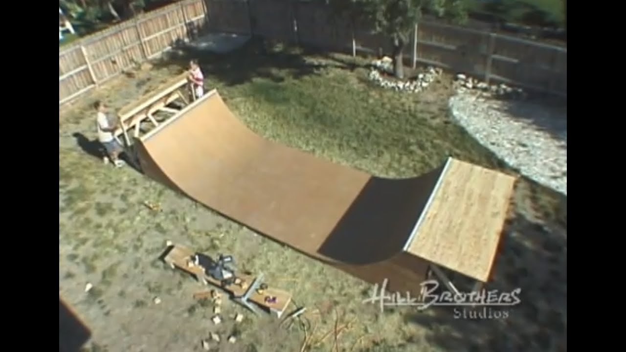 how to build a halfpipe from start to finish youtube