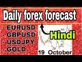 19  October    daily forex forecast | EURUSD / GBPUSD / USDJPY / GOLD | forex trading | Hindi