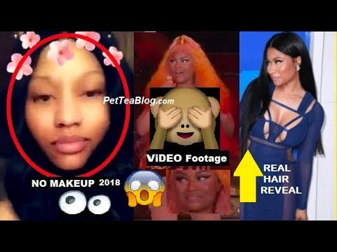 Nicki Minaj Goes MakeUp Free, Shows 40 Inch REAL HAIR & Has Slip Up at Made in America Fest 👙😲
