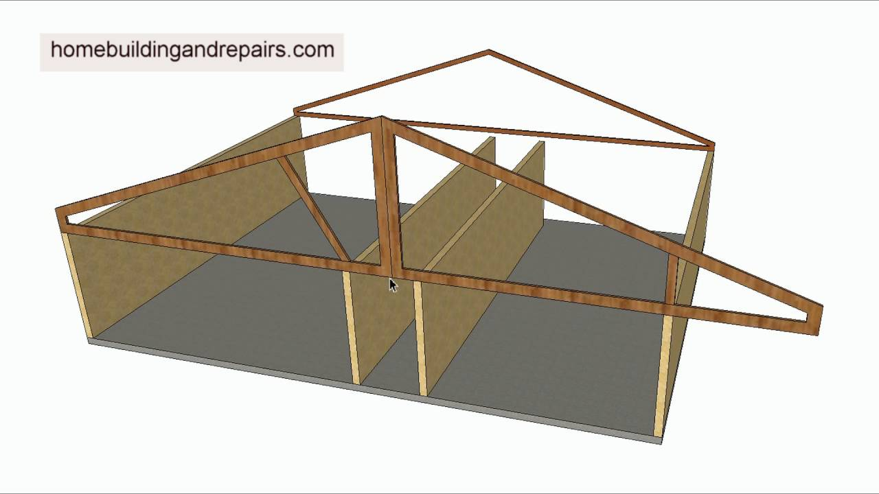 How Do Roof Truss Cantilevers Work – House Framing - YouTube