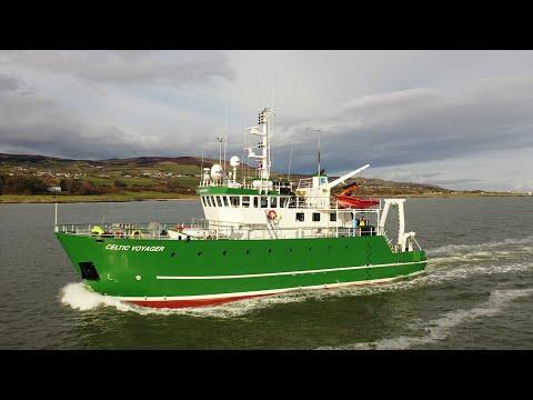 DJI Mavic 2 Pro - Survey Vessel CELTIC VOYAGER & ARDENT Fishing Vessel Crossing On Lough Foyle