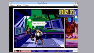 Comix Zone PC (running under Windows 3.11 + WinG SDK)