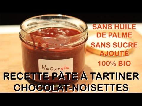 Recette bio : pâte à tartiner chocolat-noisettes (Naturola vs. Nutella)