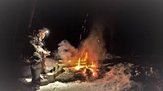 Живая Красота Зимнего Похода Рыбалка С Ночёвкой в Лесу 26 Настоящий Кайф и Умиротворение у Огня