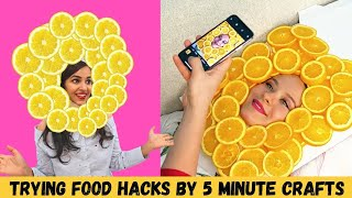 Trying FOOD Hacks by 5 Minute Crafts 😉