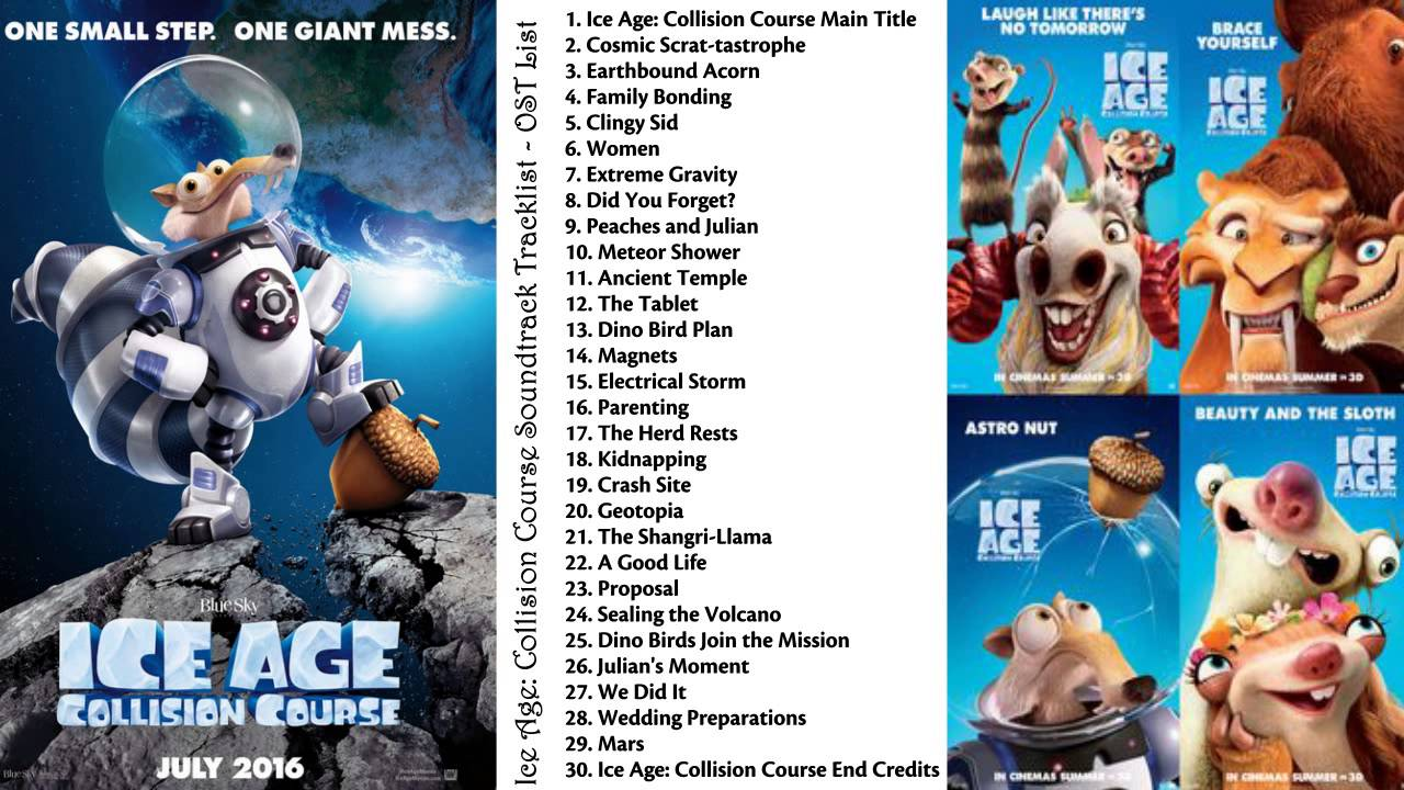 ice age collision course movie soundtrack 2016