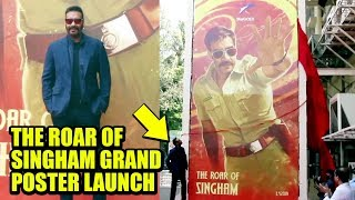 Singham 3 Ajay Devgn LAUNCHES Movie The Roar of Singham GRAND Poster