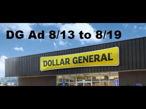 Dollar General Ad 8/13/17 to 8/19/17