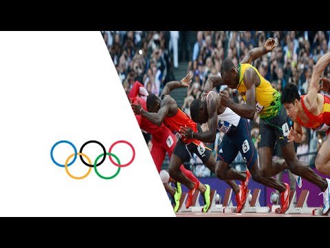 Bolt, Blake & Gatlin Win 100m Semi-Finals - London 2012 Olympics