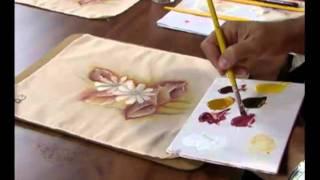 Pintando margaridas em tecido 2