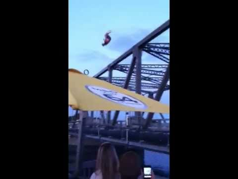 David Fisch - WATCH THIS: Dude At Bill's Seafood Flips Off The Singing Bridge!