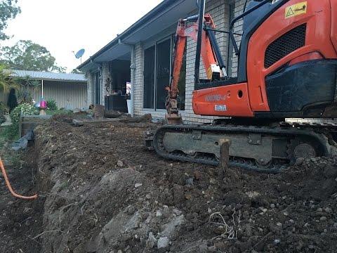 How To Remove A Timber Retaining Wall Kubota KX018-4 Mini Excavator