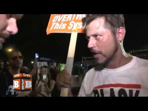 Drunk Idiot Tries to Instigate Riot