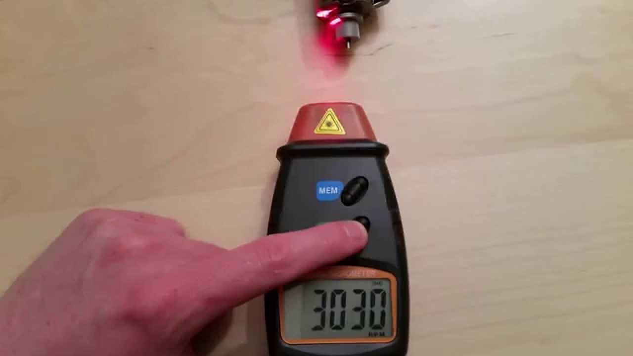 µreview 8 dt 2234c optical digital rpm meter tachometer youtube
