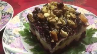 Два салата с маринованными грибами