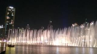 Dubai fountain - I'll always love you.