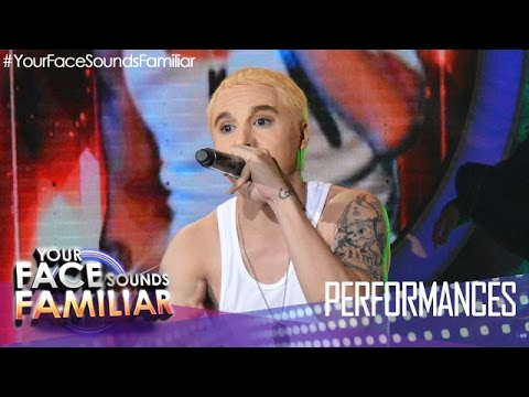 Your Face Sounds Familiar: Sam Concepcion as Eminem -