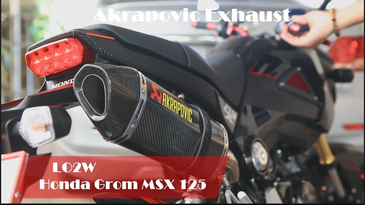 top 10 full exhaust sound honda grom msx 125 akrapovic sc project yoshimura ixil m4