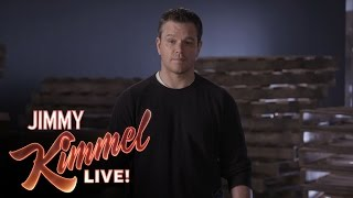 Matt Damon's Attack Ad Against Jimmy Kimmel