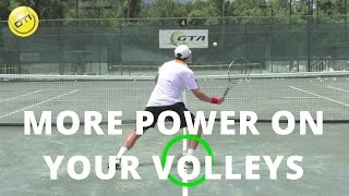 Tennis Tip: More Power On Your Volleys - Net Domination Video #1