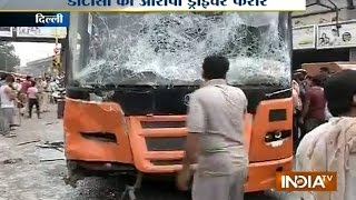 Protest Near Inderlok Metro Station in Delhi After a Bus Runs Over Student - India Tv