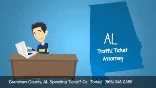 Help Crenshaw County, Alabama Traffic Speeding Ticket Lawyer - Best Crenshaw County Traffic Attorney