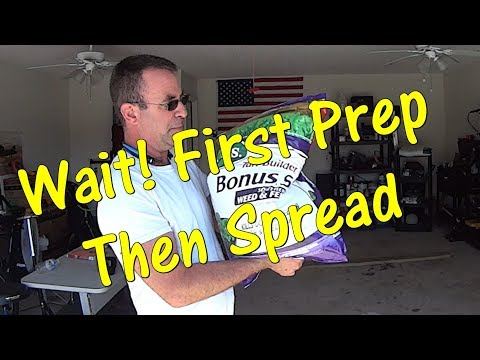 Grass Cutting - How To Prep for Weed and Feed or Fertilizer - Lawn Service Video