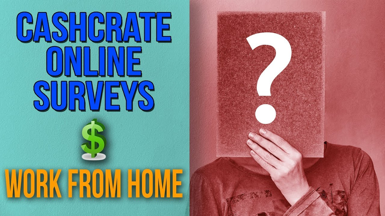 Cashcrate Online Surveys |Work From Home|