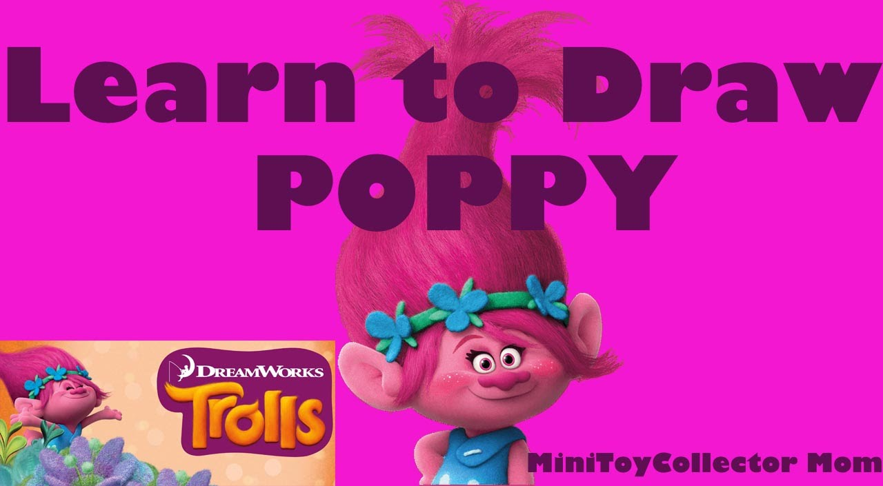 Learn how to draw poppy from trolls youtube ccuart Gallery
