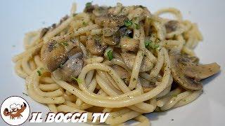 550 - Spaghetti funghi champignon e limone...e farete un figurone! (primo di terra veloce e genuino)