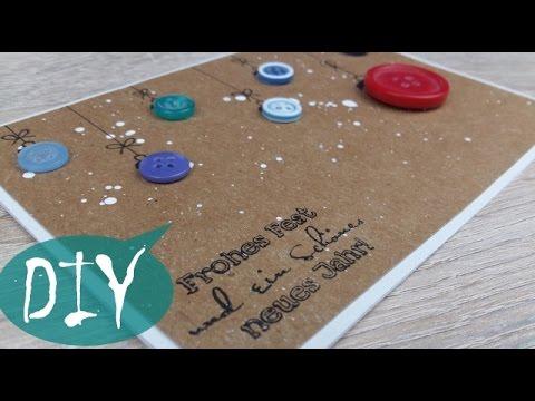 weihnachtskarte mit kn pfen diy tutorial youtube. Black Bedroom Furniture Sets. Home Design Ideas