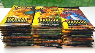 OPENING DRAGON MAJESTY POKEMON BOOSTER BOX! *full art Pokemon cards pulled!*