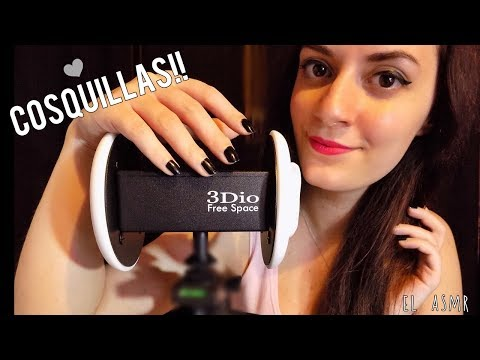 ♡ASMR español♡ COSQUILLAS Fuertes para ti!! (Mouth sounds,ear touching,brushing,scratching,Spinner)