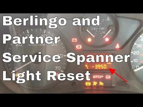 Citroen Berlingo 2012 Service Light Reset Spanner Warning Message And Peugeot Partner