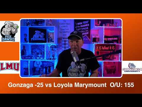 Gonzaga vs Loyola Marymount 2/27/21 Free College Basketball Pick and Prediction CBB Betting Tips