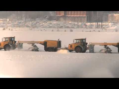 Snow-clearing at Arlanda Airport, Stockholm, SWEDEN
