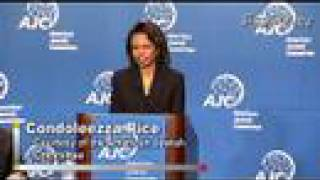 Condoleezza Rice - Hamas and Israel / Palestine Peace