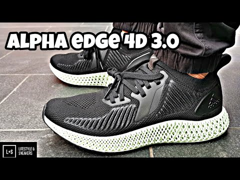 """adidas-alpha-edge-4d-3.0-""""black""""-(unboxing/review/on-feet)"""