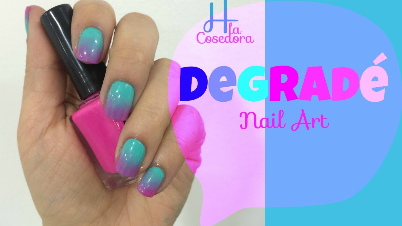 Decoracion de uñas Degradé - Ombre Nail Art - YouTube