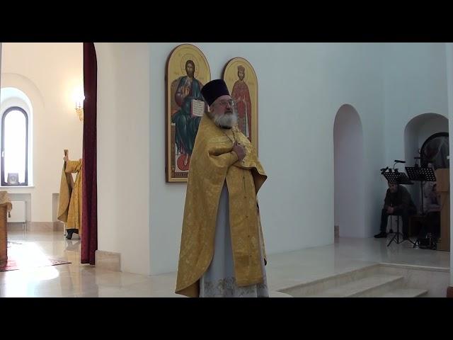 Проповедь отца Владимира в день памяти Святого благоверного князя Александра Невского 12 09 2021