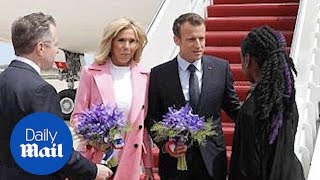 President Trump is visited by President Macron from France - Daily Mail