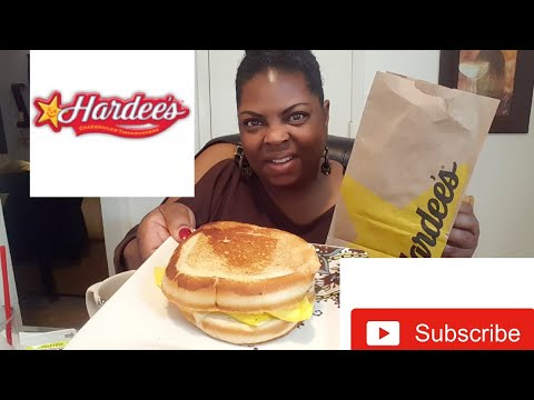 ☆Hardee's Frisco Breakfast Ham,Egg & Cheese Sandwich•Eating Show(shout-outs!)