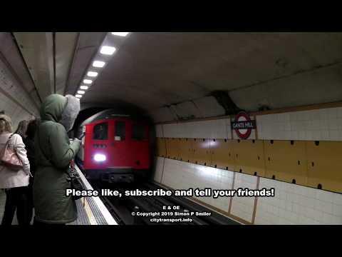 A London 'Rail Adhesion' Tube Train At Gants Hill Station
