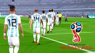 Argentina vs Iceland | FIFA World Cup Russia 2018 | Gameplay