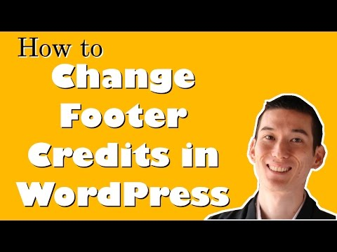 How to Remove or Replace Footer Credits in WordPress without Modifying Code