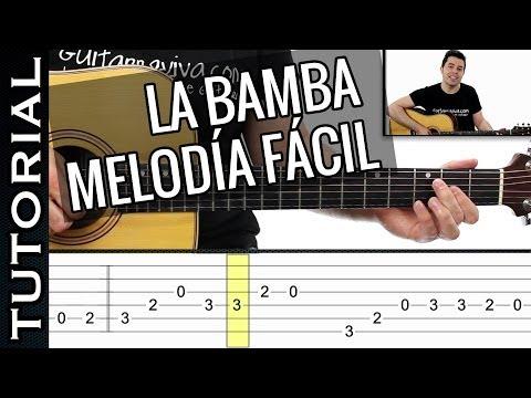 como tocar LA BAMBA melodía FACIL en guitarra ( sólo 2 dedos! ) principiantes y novatos