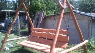 Садовые качели своими руками, не вопрос.(Несколько стволов древесины и у нас готовые качели. Нслаждайтесь отдыхом. Сделать может каждый, главное..., 2014-08-01T10:11:41.000Z)